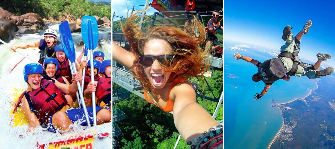 Tully River Rafting, Skydive & Bungy 3 Day Package