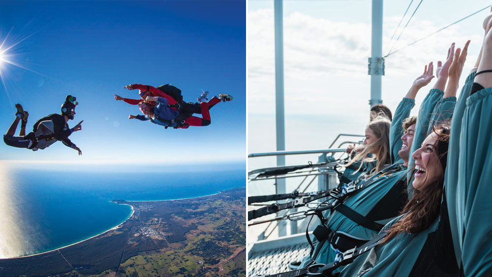 Skydive & SkyPoint Climb Package