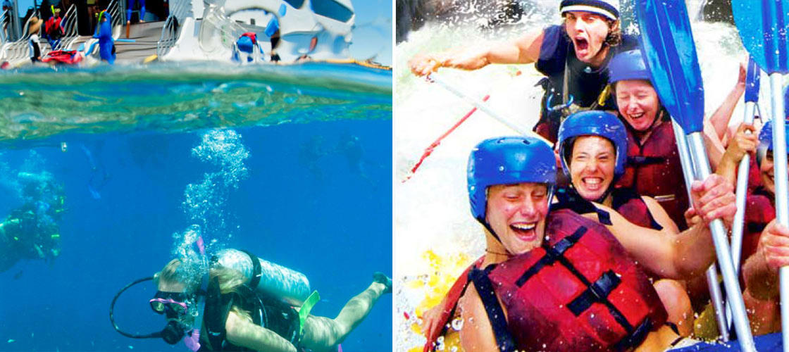 Cairns 2 Day Reef Cruise & Tully River Rafting Package