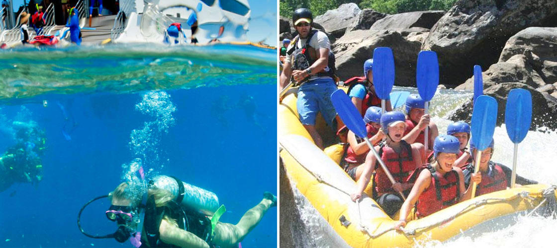 Cairns 2 Day Reef Cruise & Barron River Rafting Package