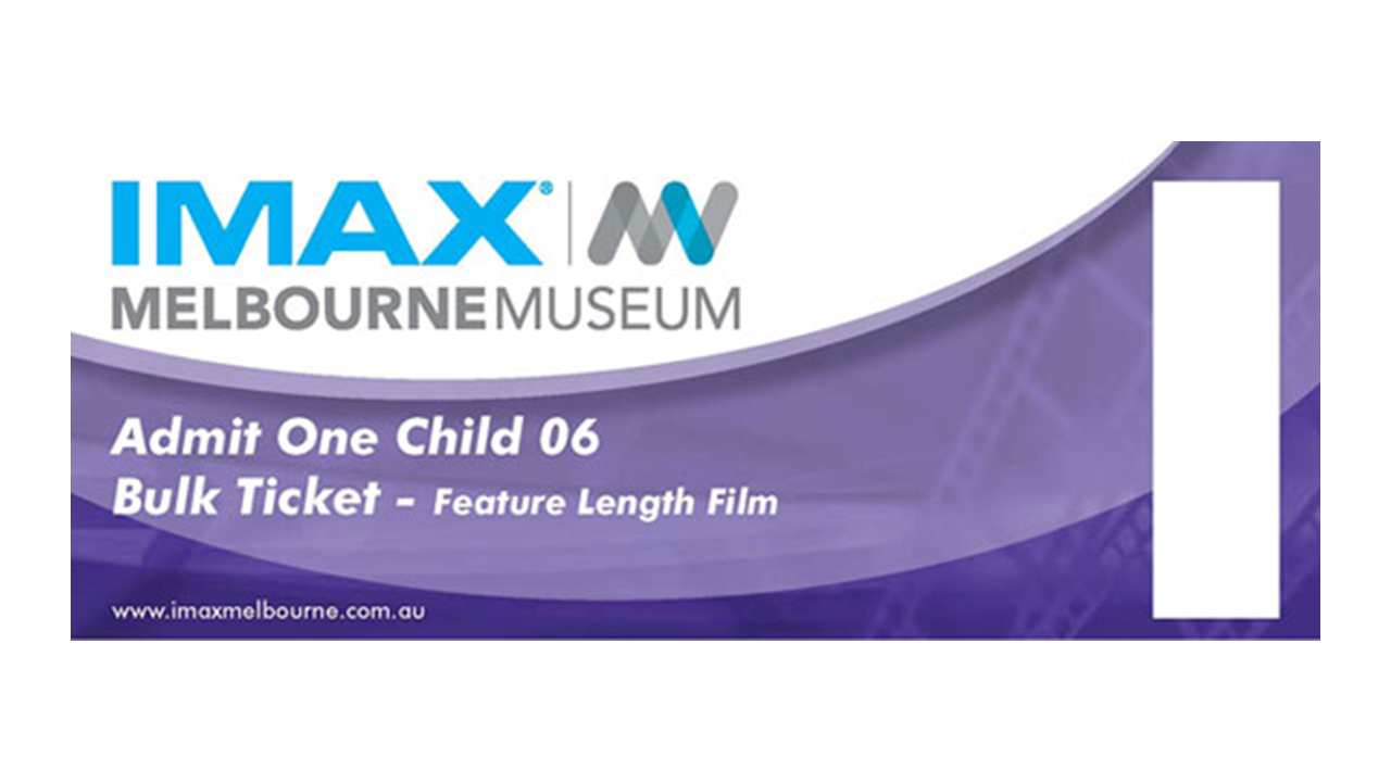 Imax Melb Child Feature Voucher