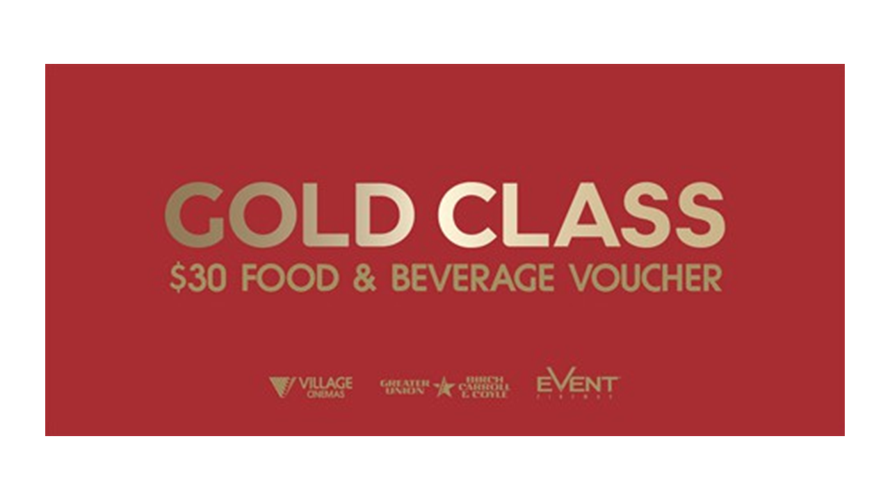 Buy Gold Class $30 Food and Beverage E-Voucher